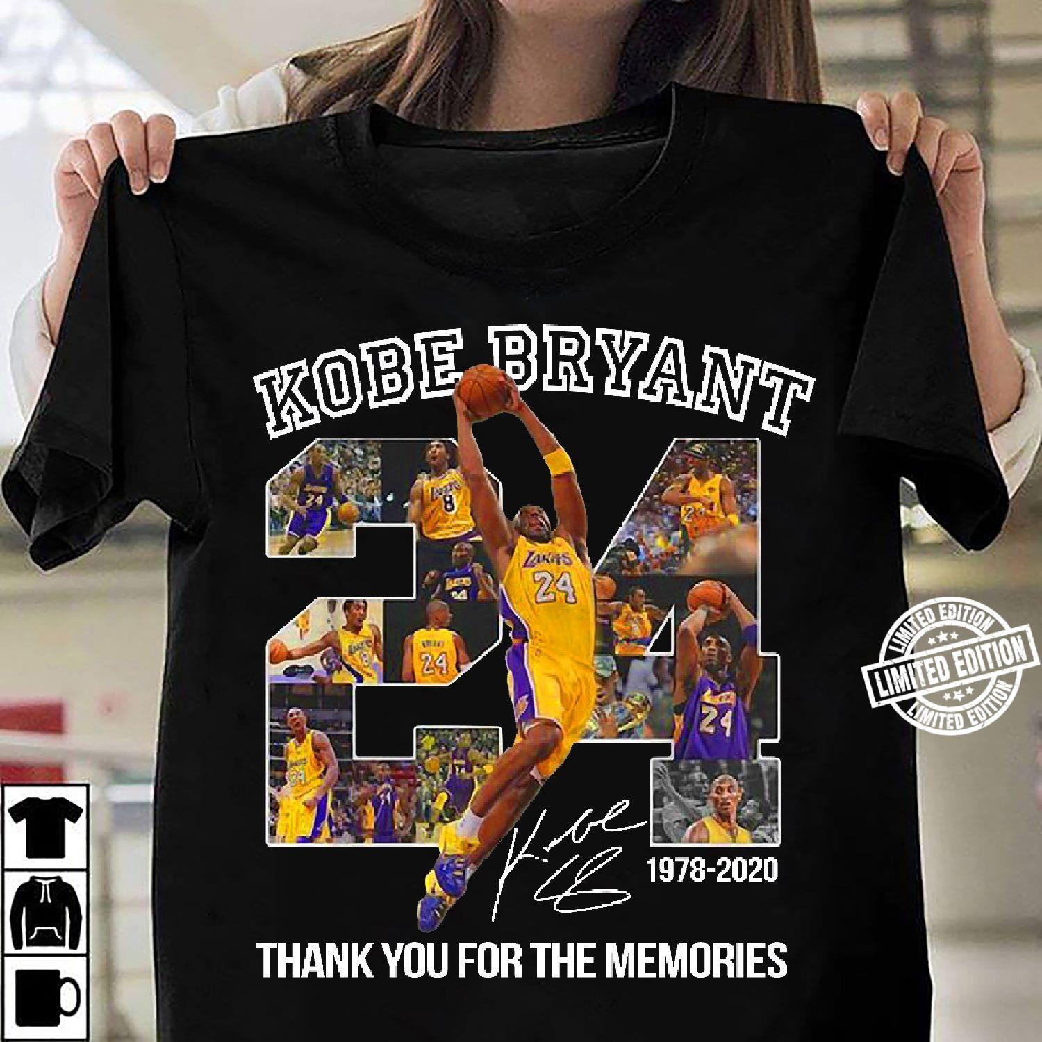 Kobe Bryant 24 thank you for the memories shirt