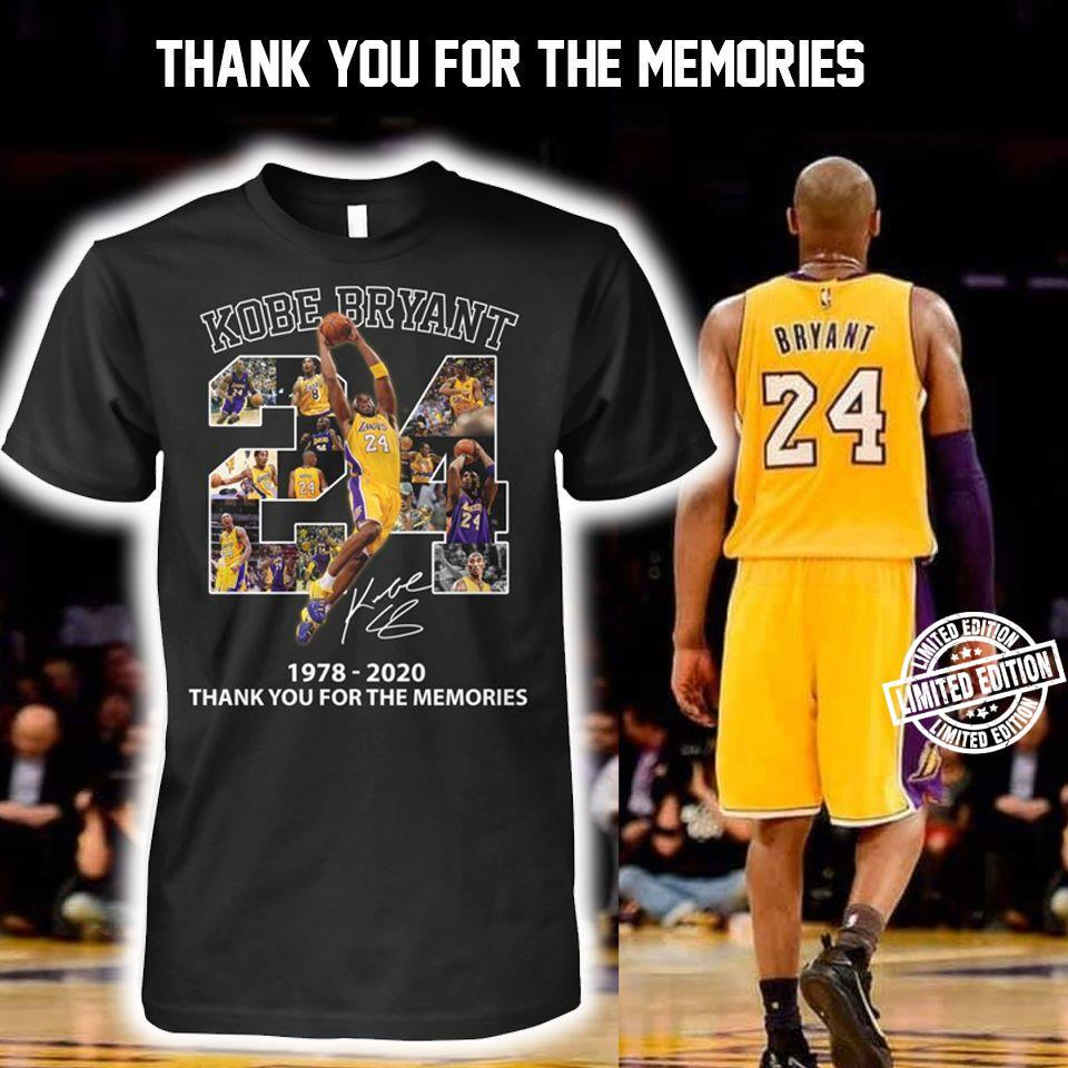 Kobe bryant 24 1978-2020 thank you for the memories shirt