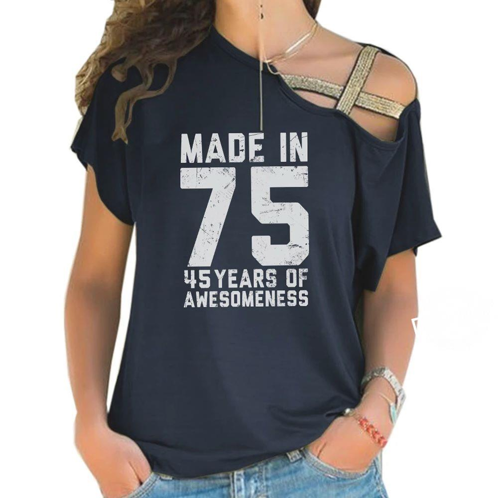 Made in 75 45 years of awesomeness shirt